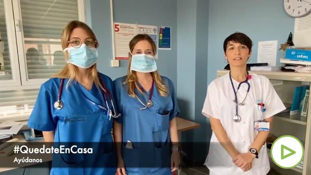 #QuédateEnCasa: el reto viral lanzado por sanitarios del Clínico de Madrid para frenar el contagio de coronavirus.