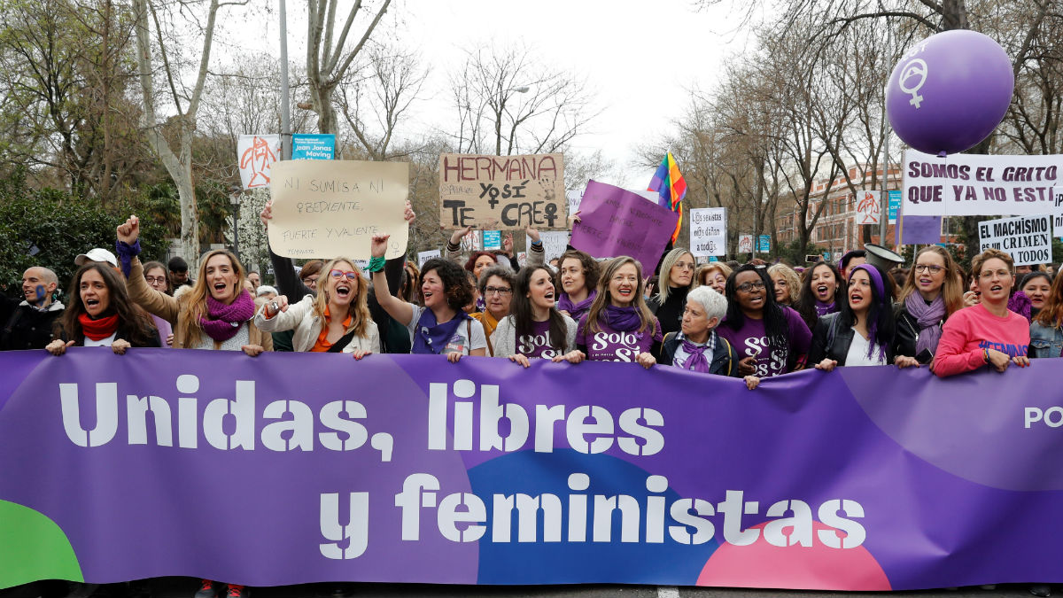 Manifestación feminista celebrada el 8 de marzo.