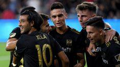 Los jugadores de Los Ángeles Football Club celebra un gol. (AFP)