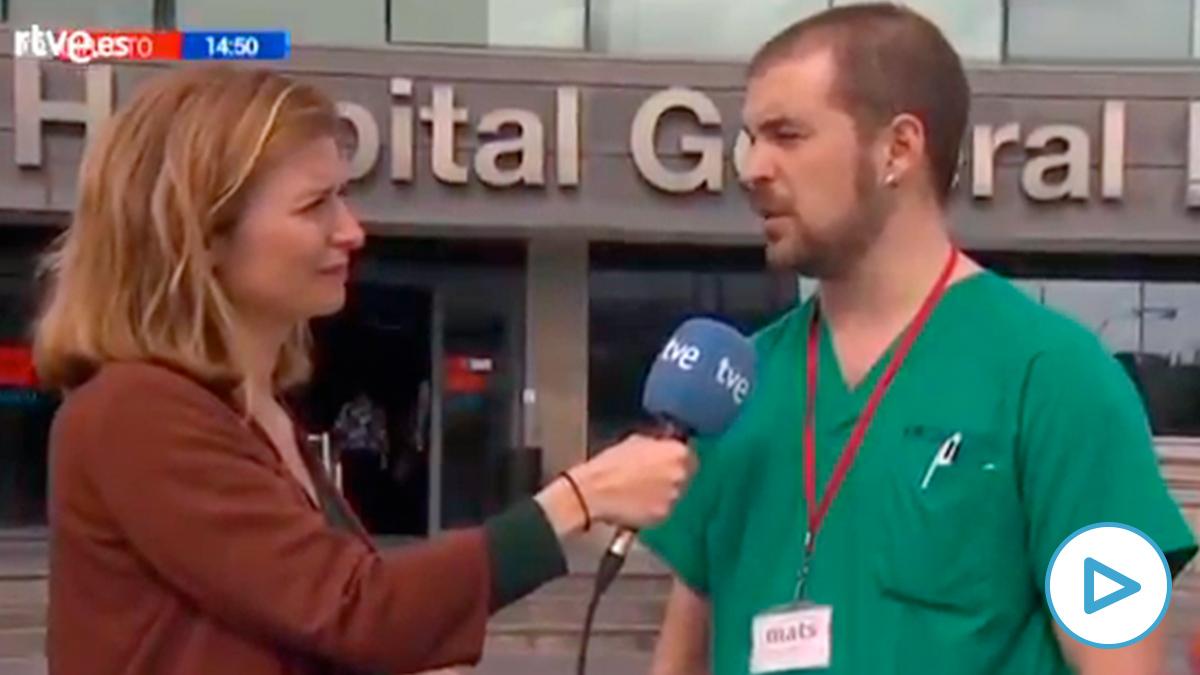 TVE entrevista como enfermero a un candidato de Podemos para cargar contra Ayuso.