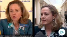 Las declaraciones de la ministra Nadia Calviño.