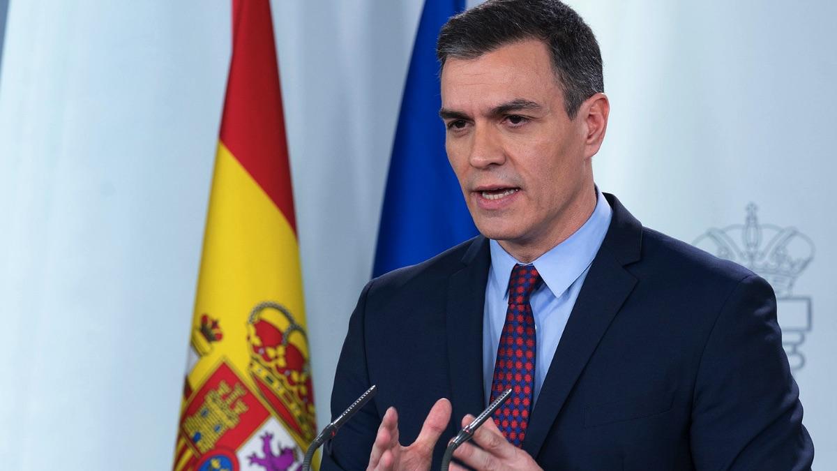 Pedro Sánchez, en una declaración institucional en Moncloa. (Foto: Moncloa)