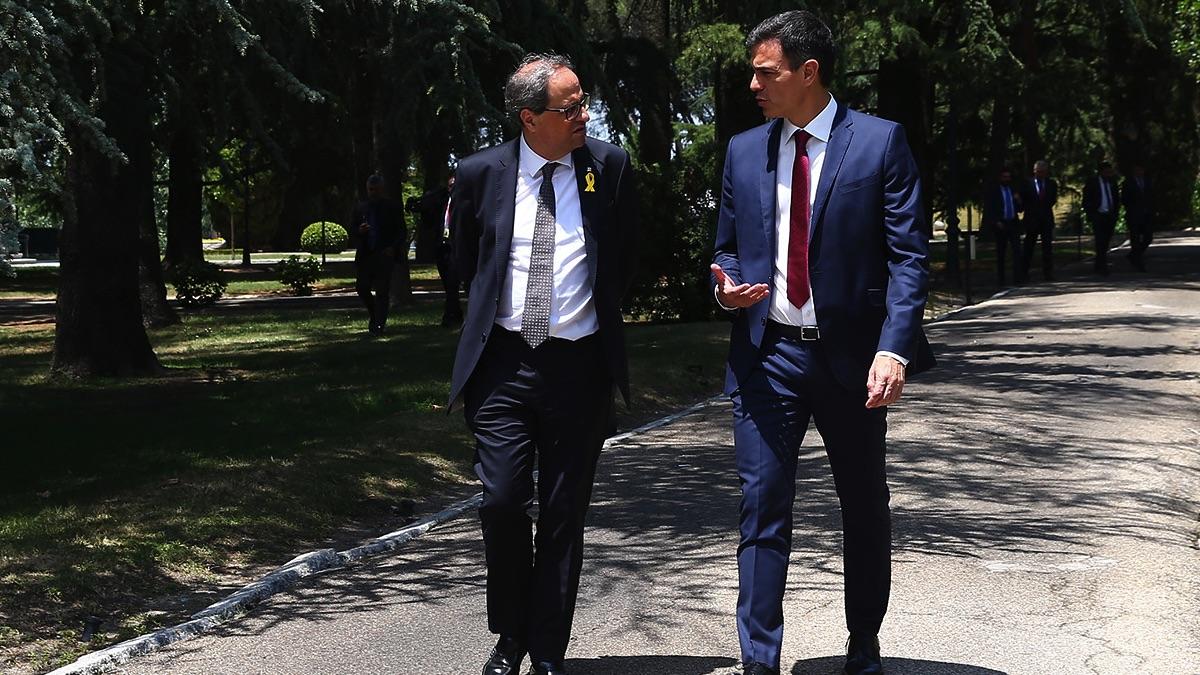 Quim Torra y Pedro Sánchez. (Foto: Moncloa)