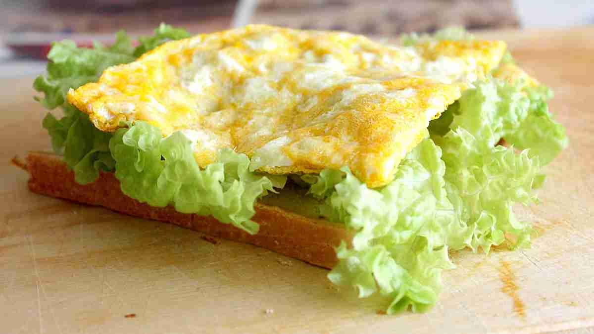 Receta de Tortilla francesa vegana