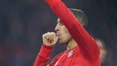 Thiago Alcántara celebra un gol con el Bayern de Múnich. (@Thiago6)