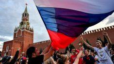 Aficionados rusos durante la celebración del Mundial.
