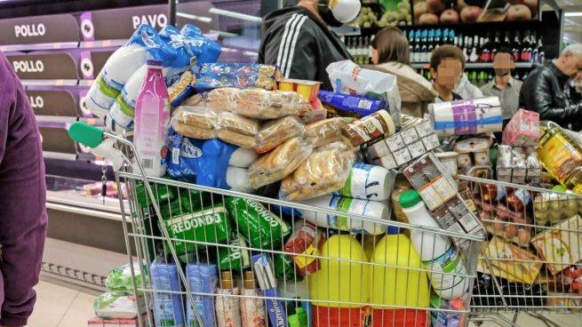 Compras de acopio en el supermercado