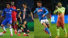 Willian, Cavani, Mertens o Silva quedan libres el 30 de junio (Getty).