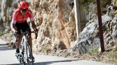 Nairo Quintana, en la última etapa de la Paris-Niza. (AFP)