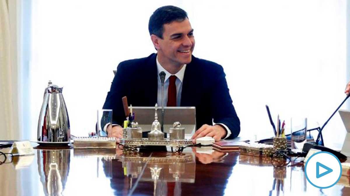 Pedro Sánchez en el Consejo de Ministros.