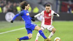 Marc Cucurella con el getafe frente al Ajax. (AFP)
