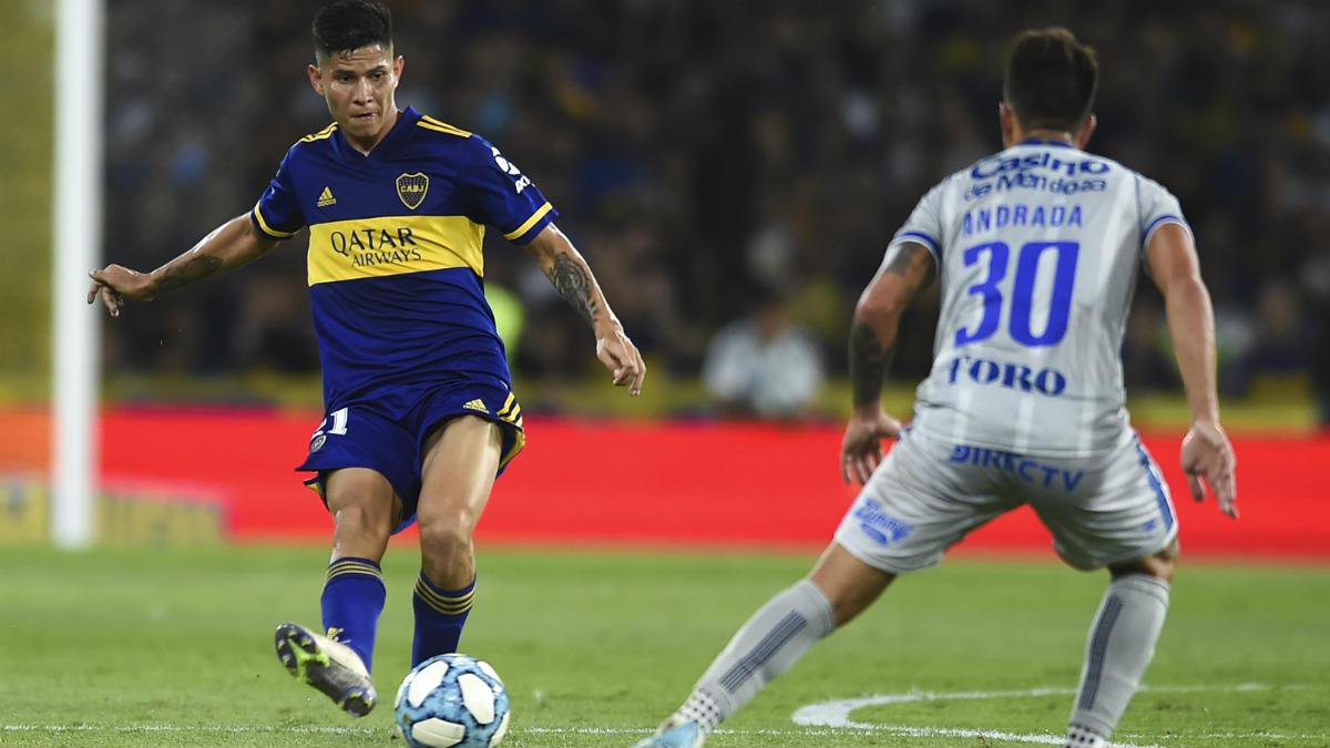 Campuzano, en un partido con Boca Juniors. (Getty)