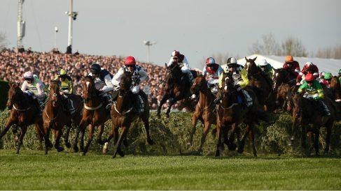Imagen del Grand National disputado en Aintree (Liverpool), en 2019 (AFP).