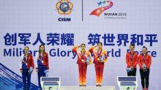 Podio de los Juegos Mundiales Militares de Wuhan 2019. (International Military Sports Council)