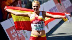 La marchadora Julia Takacs, bronce en los europeos de Berlín. (AFP)