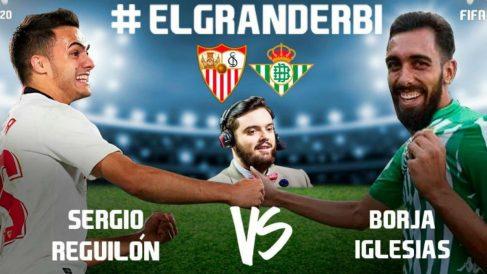 Reguilón y Borja Iglesias juegan el derbi sevillano de forma virtual.