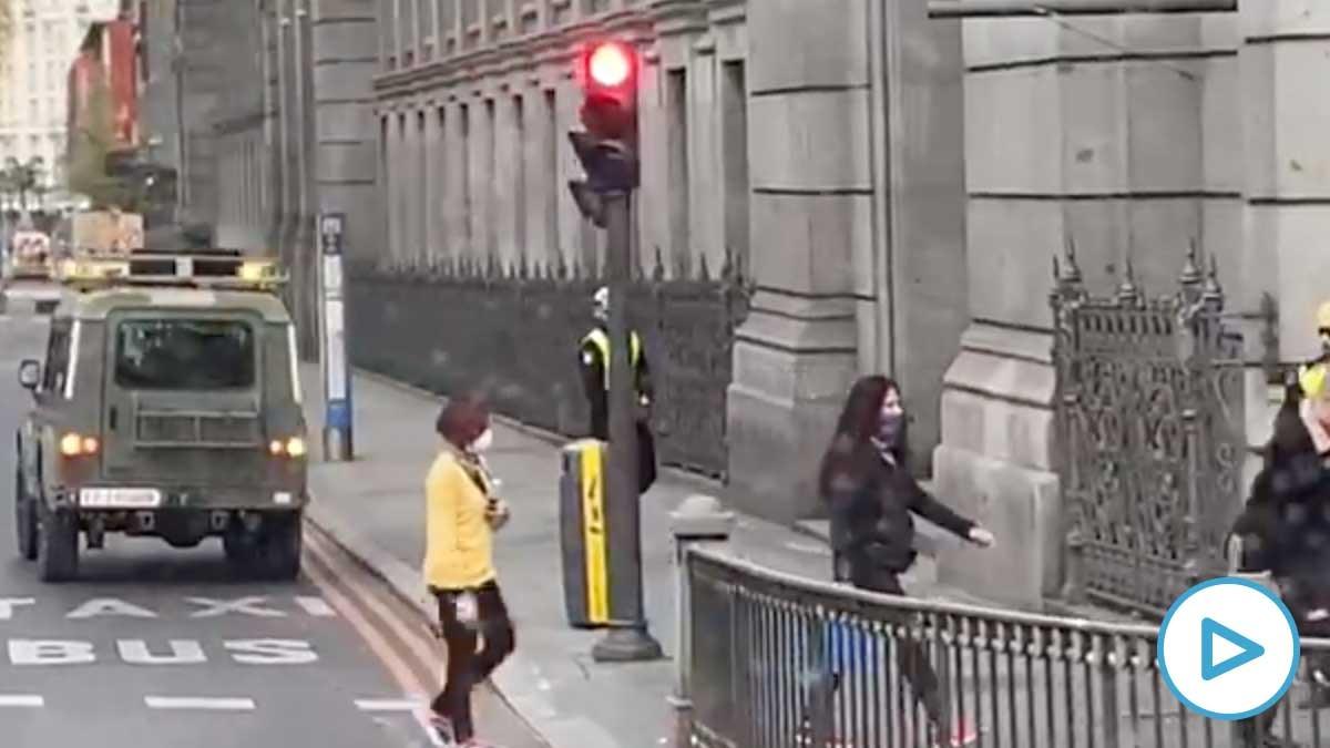 La UME en las calles de Madrid en pleno estado de alarma.