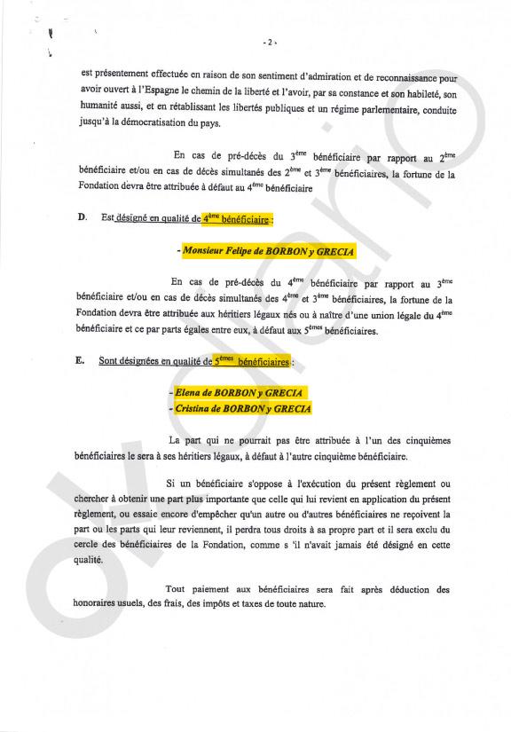 La Reina Letizia no figura como beneficiaria en ninguna de las sociedades offshore de Juan Carlos I