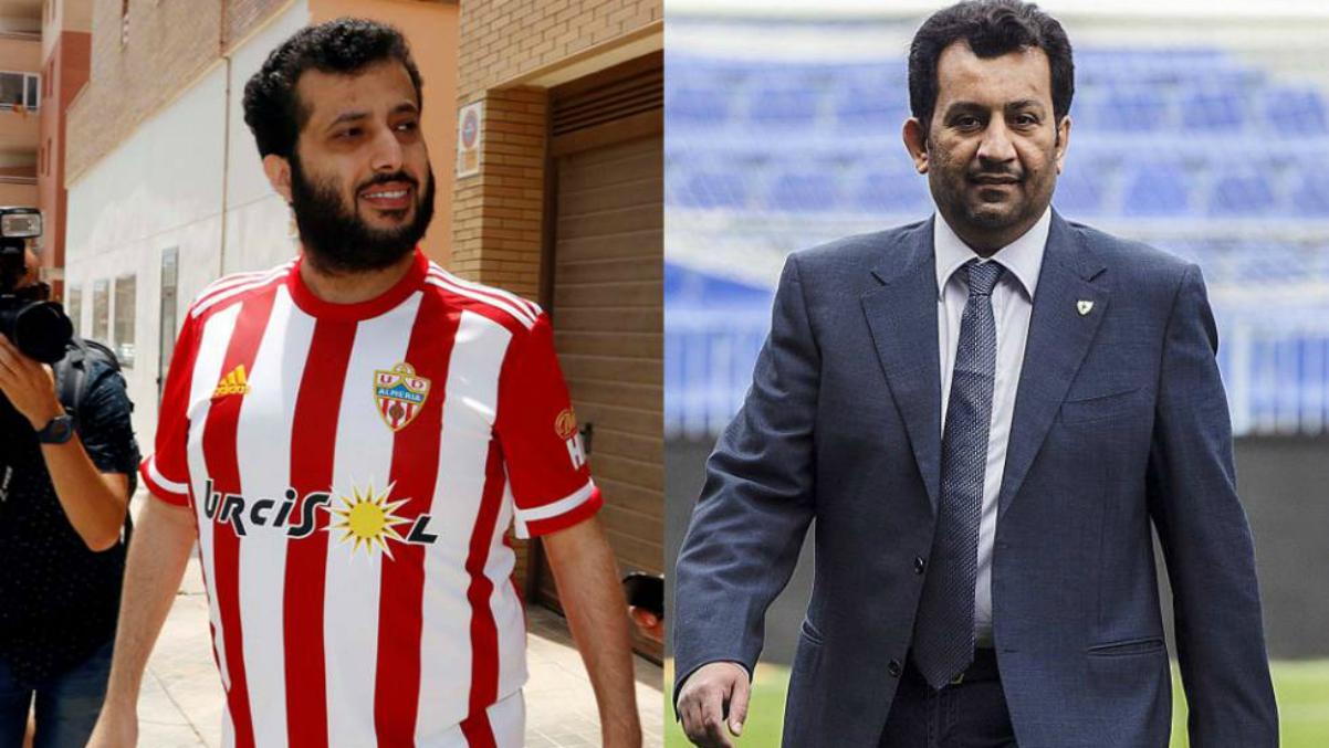 Turki Al-Sheikh y Abdullah Al-Thani, en fotos de archivo.