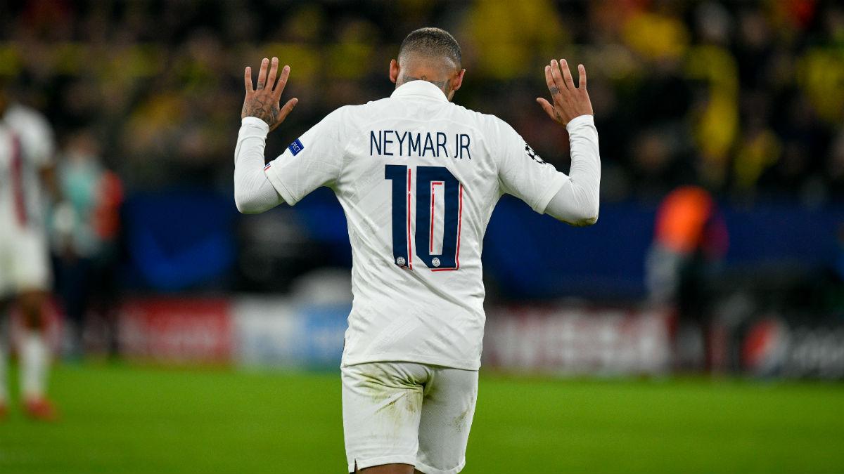 Neymar, en un partido del PSG. (AFP)