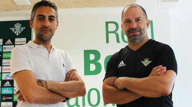 José Manuel Álvarez, a la izquierda (Foto: Real Betis).