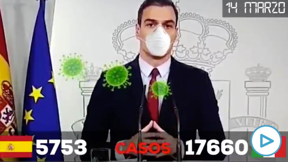El vídeo que retrata al Gobierno de Pedro Sánchez por su pésima gestión del coronavirus.