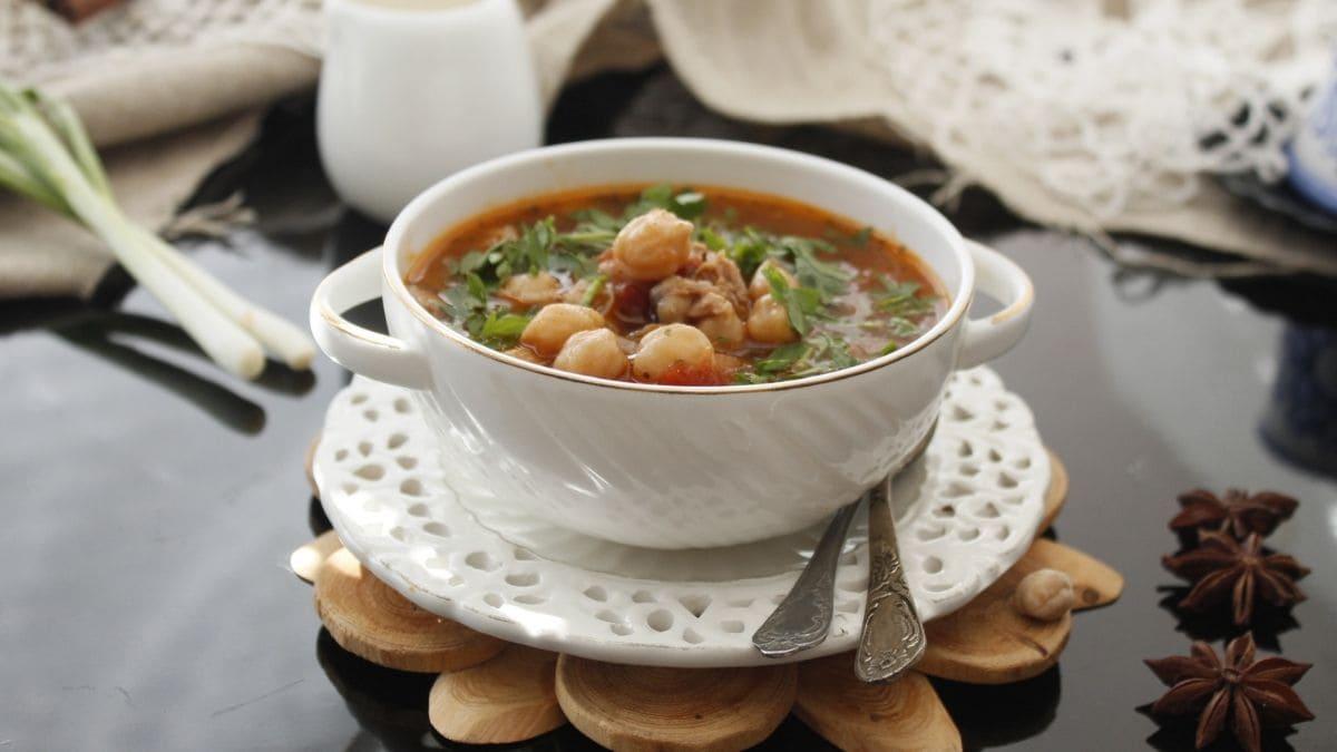 Sopa marroquí paso a paso