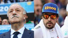 Vicente del Bosque y Fernando Alonso.