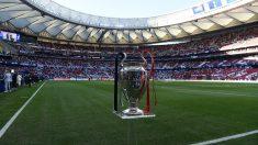 La copa de la Champions League, en el Metropolitano en la final de 2019. (AFP)