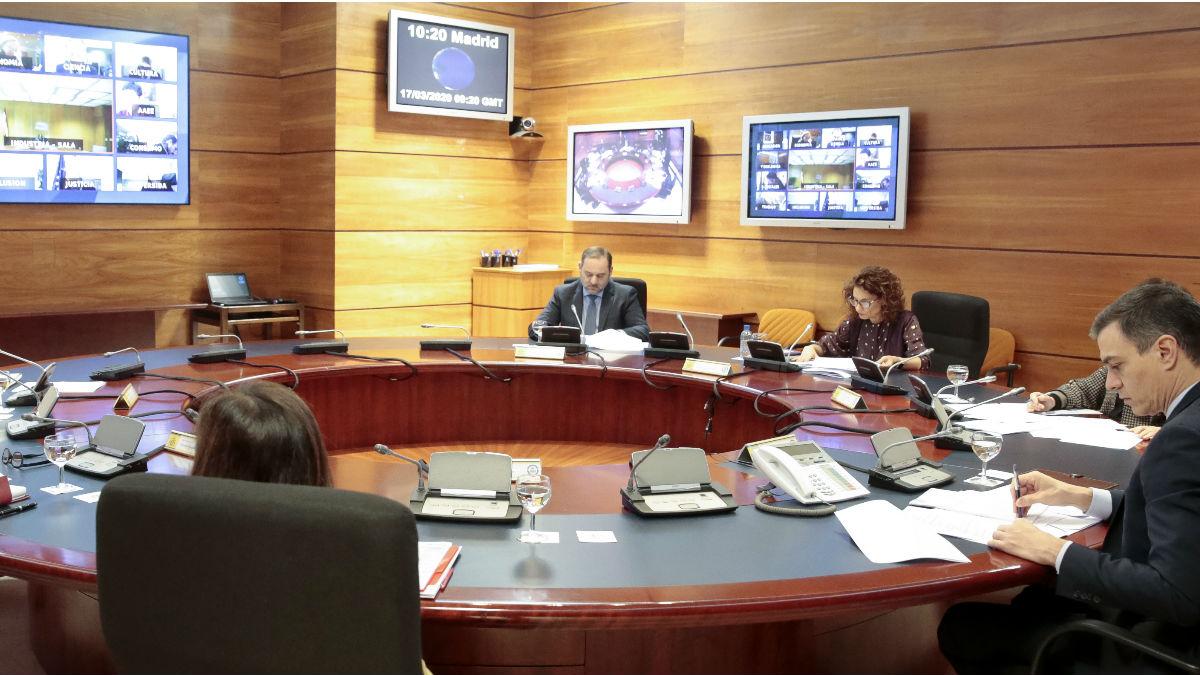 Pedro Sánchez, en el Consejo de Ministros.