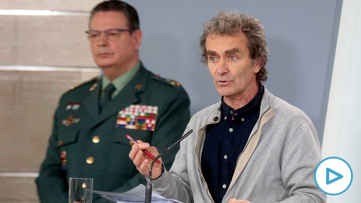 Fernando Simón durante su intervención en la rueda de prensa posterior a la reunión del Comité de gestión técnica para hacer frente al coronavirus (Foto: EFE)