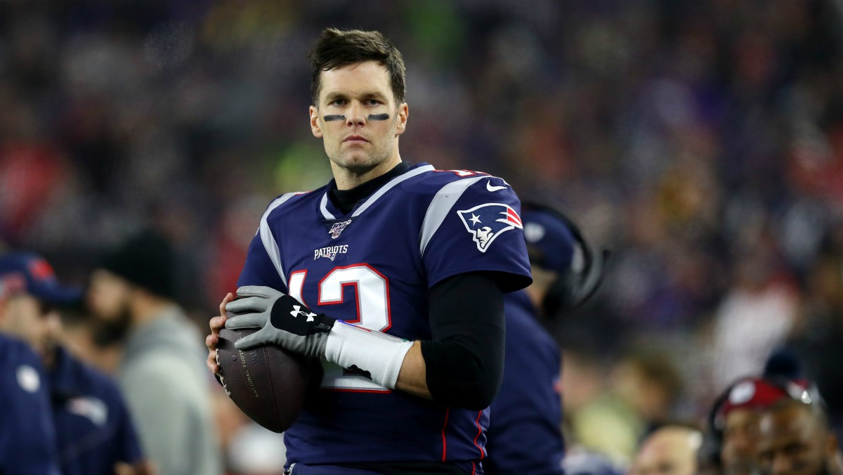 Tom Brady, en un partido con los Patriots. (Getty)