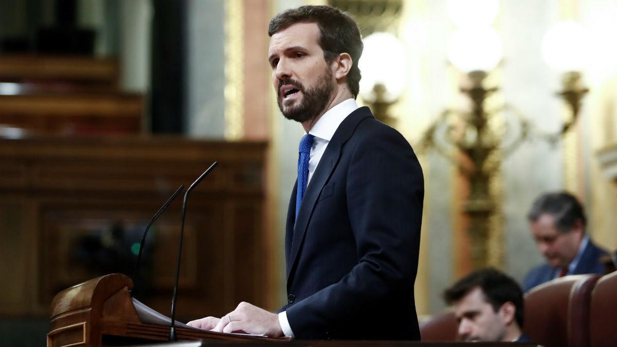 Casado acusa a Sánchez de darle información falsa sobre el cierre de las empresas