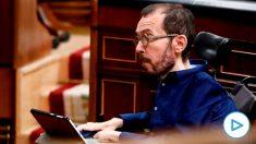Echenique, en el Congreso, durante el pleno extraordinario de este miércoles. Foto: EFE