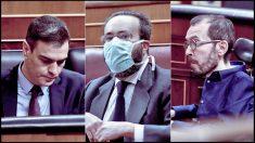 El diputado de Vox José María Sánchez García ha sido el único en acudir al Pleno con mascarilla.