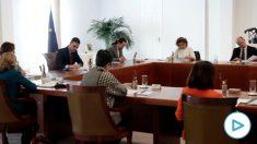 Consejo de Ministros extraordinario abordando el estado de alarma. (Foto: Moncloa)