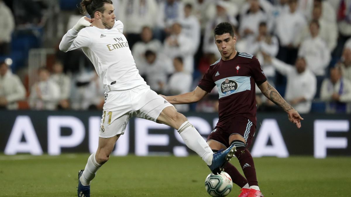 Lucas Olaza, ante el Real Madrid (Getty).