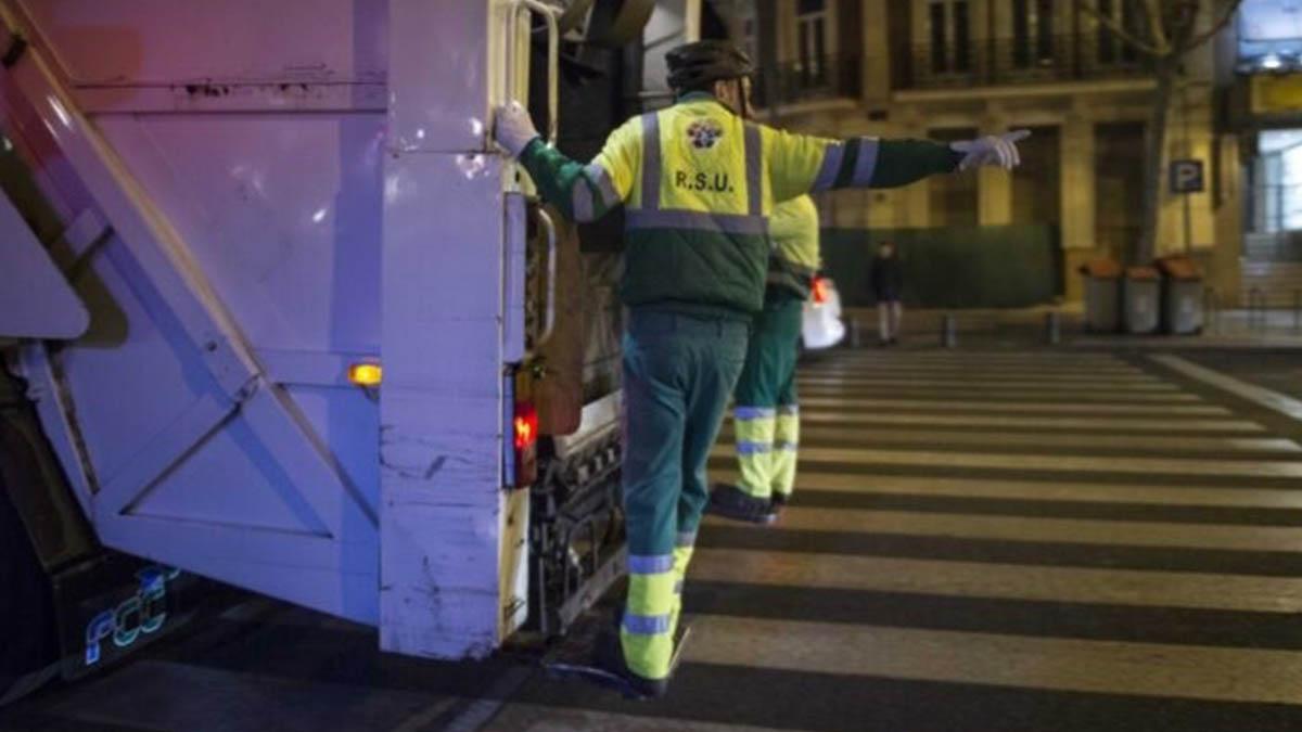 Recogida de basuras en Madrid