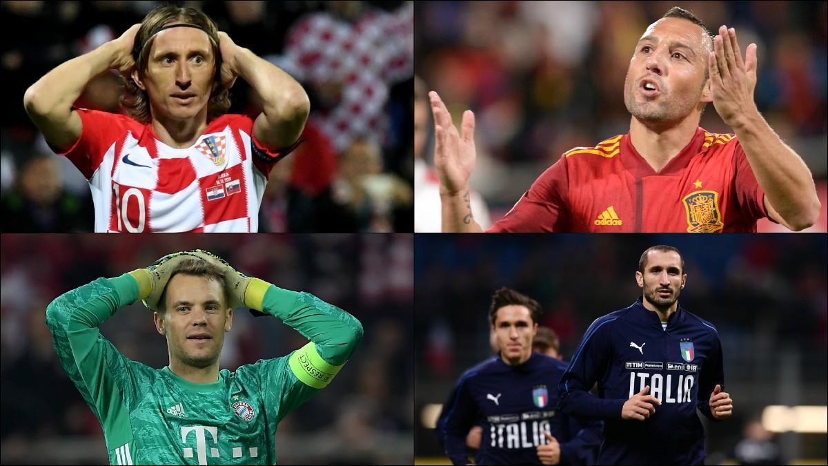 Modric, Cazorla, Neuer o Chiellini ven peligrar la Eurocopa.