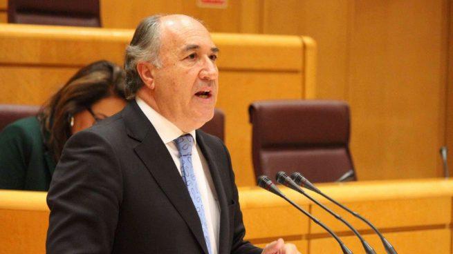 José Ignacio Landaluce, alcalde de Algeciras, en el Senado.