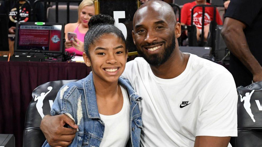 Kobe, en su última imagen junto a Gianna. (AFP)