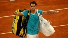 Nadal, tras su derrota en el Mutua Madrid Open. (Getty)