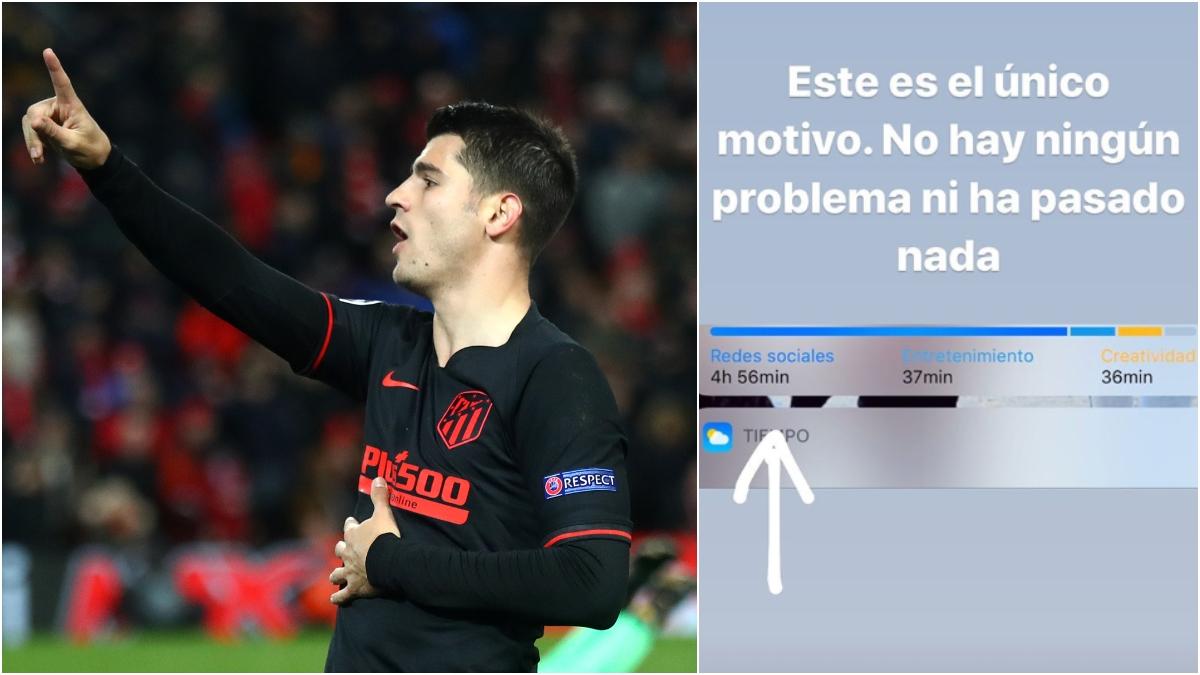 El mensaje de Morata tras abandonar las redes sociales.