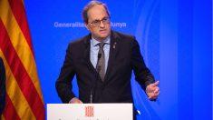 El presidente de la Generalitat, Quim Torra, en una rueda de prensa. (Foto: Europa Press)