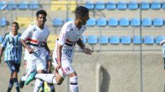 Gustavo Maia celebra un gol con el Sao Paulo B. (@SaoPauloFC)