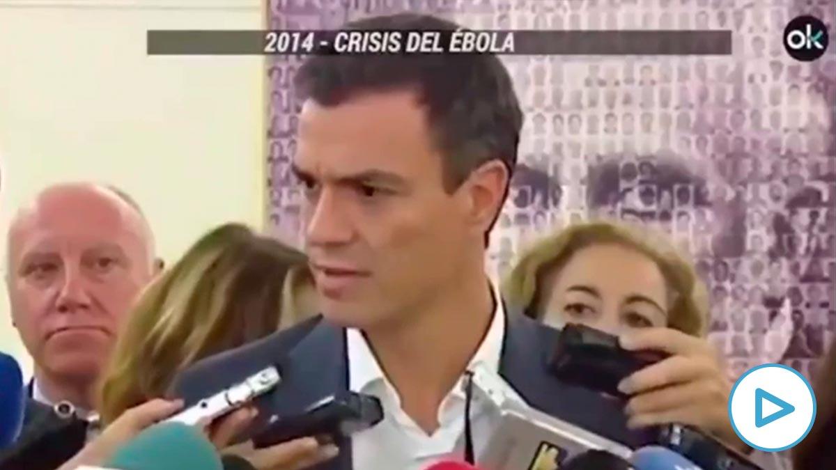 Así critica Sánchez a Rajoy por el ébola.