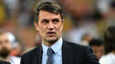 Paolo Maldini, ex jugador y actual directivo del Milan. (AFP)