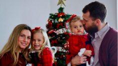 Sergio Rodríguez, junto a su familia en Navidad. (Instagram)