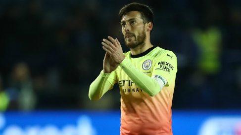 David Silva, durante un partido con el Manchester City. (Getty)