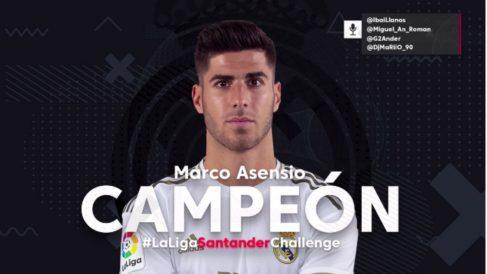 Marco Asensio hizo campeón al Real Madrid del torneo de FIFA de Ibai Llanos.